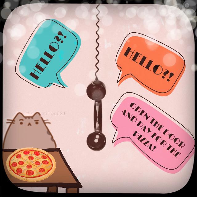 #freetoedit #pusheen #pusheenforever #pusheenpizza #pusheenforever #random #pusheenrandom #pusheencat #telephone #pizza🍕