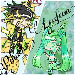 leafeon pikachu pokemonloversandfans