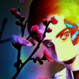 freetoedit flower woman colorbright colorbrighteffect