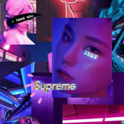 lockscreen yeji edit neon light