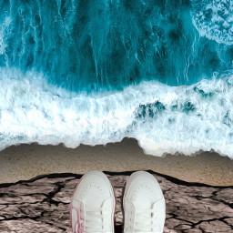 ircspringshoes springshoes freetoedit ocean jump