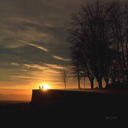 sunset bergamo italy italia backlight
