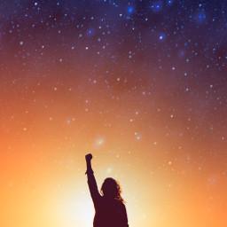 ircgirlpower girlpower freetoedit galaxy silhouette