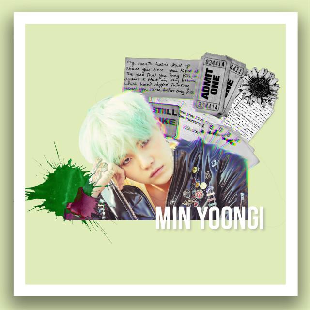 #freetoedit #bts #suga #yoongi #minyoongi #rapper #kpop #green #aesthetic #mint