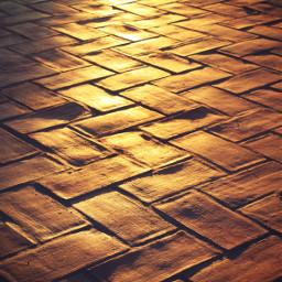 sunsettime urbex surface terracottapavement geometricshapes freetoedit