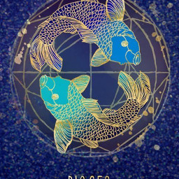 pisces sparkle bluecircle freetoedit