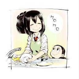 tsuyu tsuyuasui mha cleaning