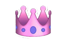 Queen emoji emojis crown purple pink princess 👑💖💜