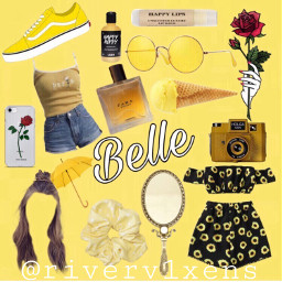 belle beautyandthebeast moodboard yellow aesthetic freetoedit