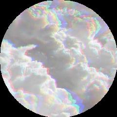clouds glitch cloud circle background freetoedit