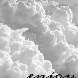 wallpaper clouds enjoy cursive