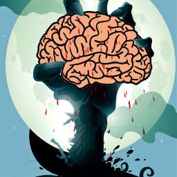 freetoedit brain zombie moon