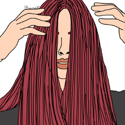 outlines drawing redhair outline