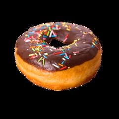donut chocolate sprinkles yum food freetoedit