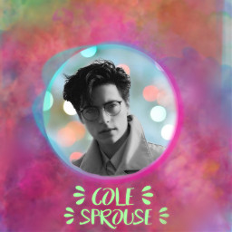myedit colesprouse colorfulbackground