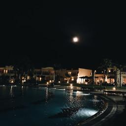 photography night nature hotel pool freetoedit
