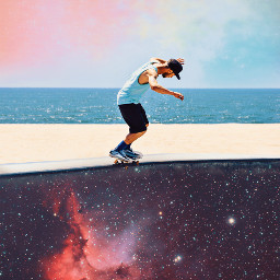 freetoedit remixit picsart space skate