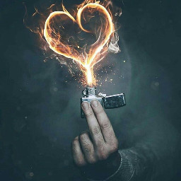 freetoedit lighter flamesofire heartshape