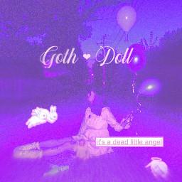 purple violet purpleaesthetic doll brn scary scenecore freetoedit