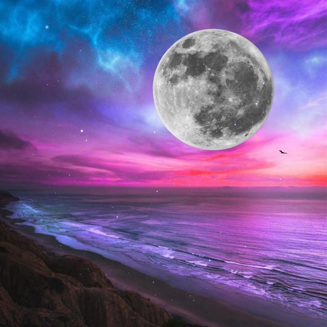 Moonlit✨  #edit #sky #stars #moon #freetoedit