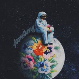galaxy astronaut armstrong freetoedit