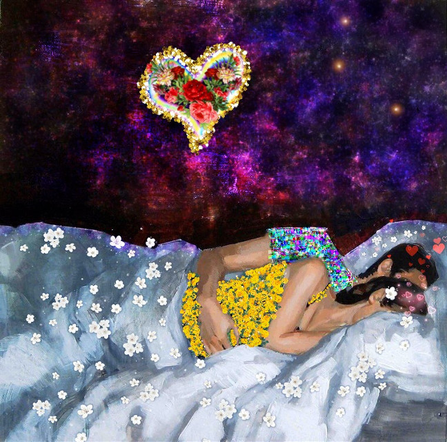 #freetoedit #flowers #цветы #космос #space #звезды #космос #stars #love #man #woman #любовь #сон #ночь #night #sleep
