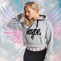 angle halo hype hoodie pink