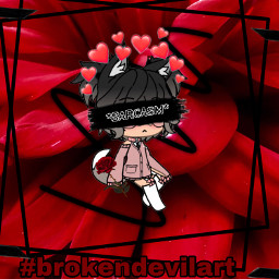 brokendevilart blackandred aesthetic roses sarcasm freetoedit