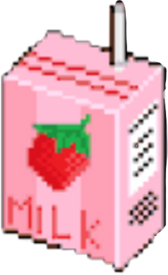 strawberry milk strawberrymilk pixel drink freetoedit