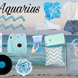 freetoedit aquarius zodaic aesthetic