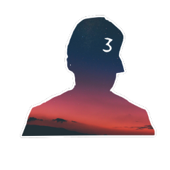 rapper chance space silhouette the freetoedit
