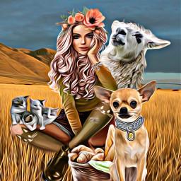 ircllama llama freetoedit familyofanimals dog