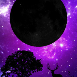 galaxia galaxy silueta purple universo