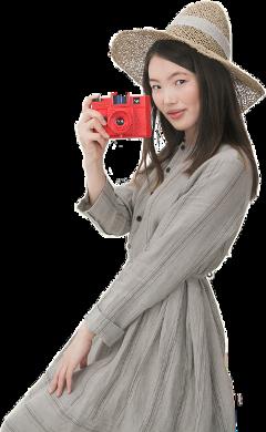girl camera woman lady dress ftestickers freetoedit