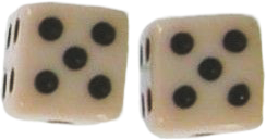 asthetic white dice vintage cube freetoedit