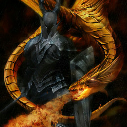 freetoedit fantasy dragon goldendragon blackknight