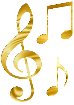 music notes golden gold orchestra freetoedit
