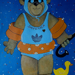 freetoedit fun mydrawing teddybär baywatch