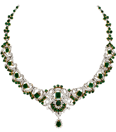 emerald green necklace diamond crystal freetoedit