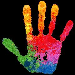 handprint multicolor hand freetoedit