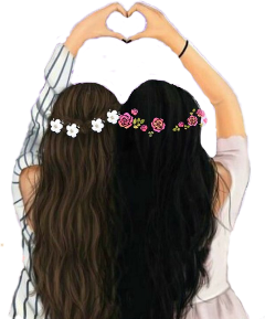 bffs4ever abffiue heart flower girls freetoedit