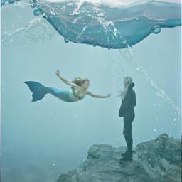 ircfoggyday foggyday freetoedit underwater meemaid