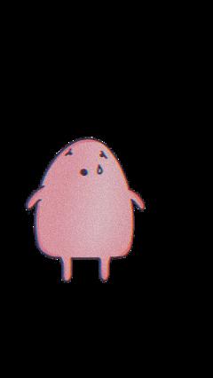 glitch cute sadness sad pink freetoedit