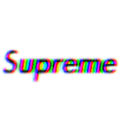 supreme glitch black freetoedit
