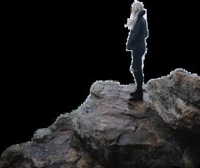 girl cliff freetoedit
