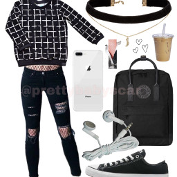 clothes outfit grunge black tumblr
