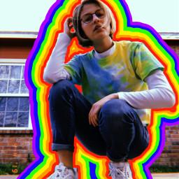 freetoedit people rainbow arthoe arthoeaesthetic