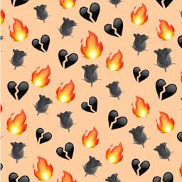 fire emoji background orange black freetoedit