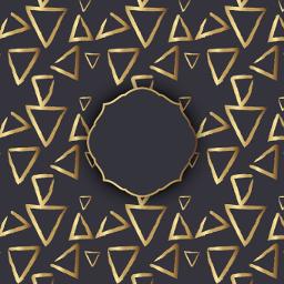 freetoedit decorative pattern gold frame scrapbook