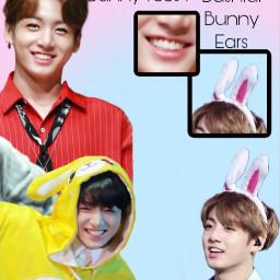 kpop kpopedit jungkook btsedit btsjungkook goldenmaknae bts easteredit easter bunny cute rabbit interesting art